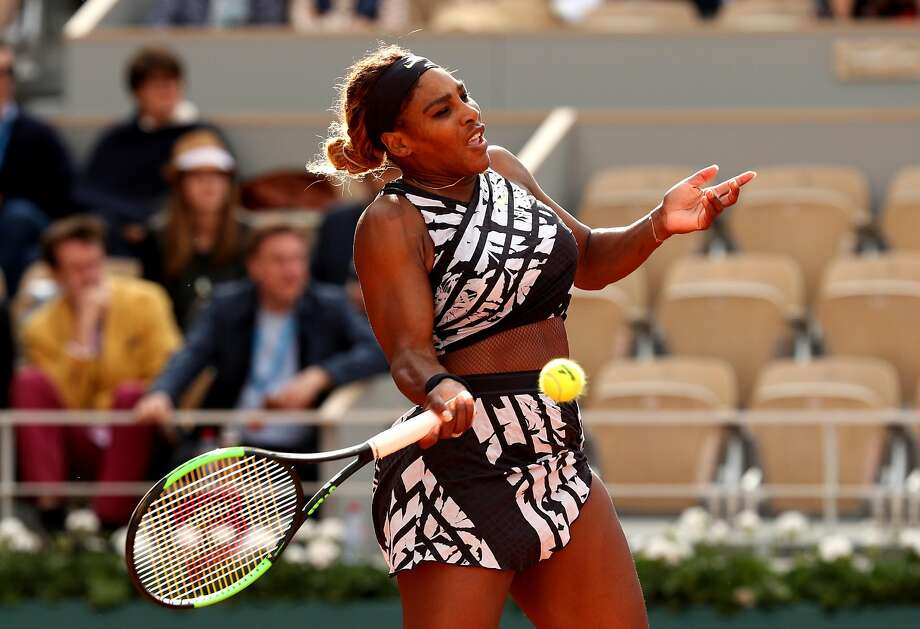 Serena Williams droped her first set to Vitalia Diatchenko, but dominated afterward to win the first-round match. Photo: Adam Pretty / Getty Images