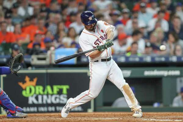 576171f5e6dfb7 1of36Astros second baseman Jack Mayfield went 1-for-4 on Monday in his major-league  debut.Photo: Steve Gonzales, Houston Chronicle / Staff photographer