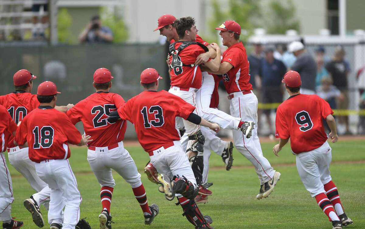 Cheshire defeated Ridgefield 1-0 in the CIAC Class LL baseball finals at Palmer Field Stadium on June 9, 2018 in Middletown.