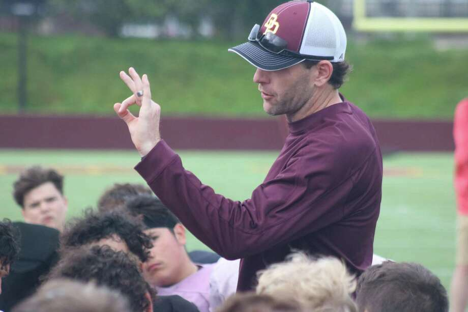 After the recent Maroon-White spring game, Deer Park head football coach Austin Flynn has declared the program way ahead of last year at this time on multiple fronts. Photo: Robert Avery