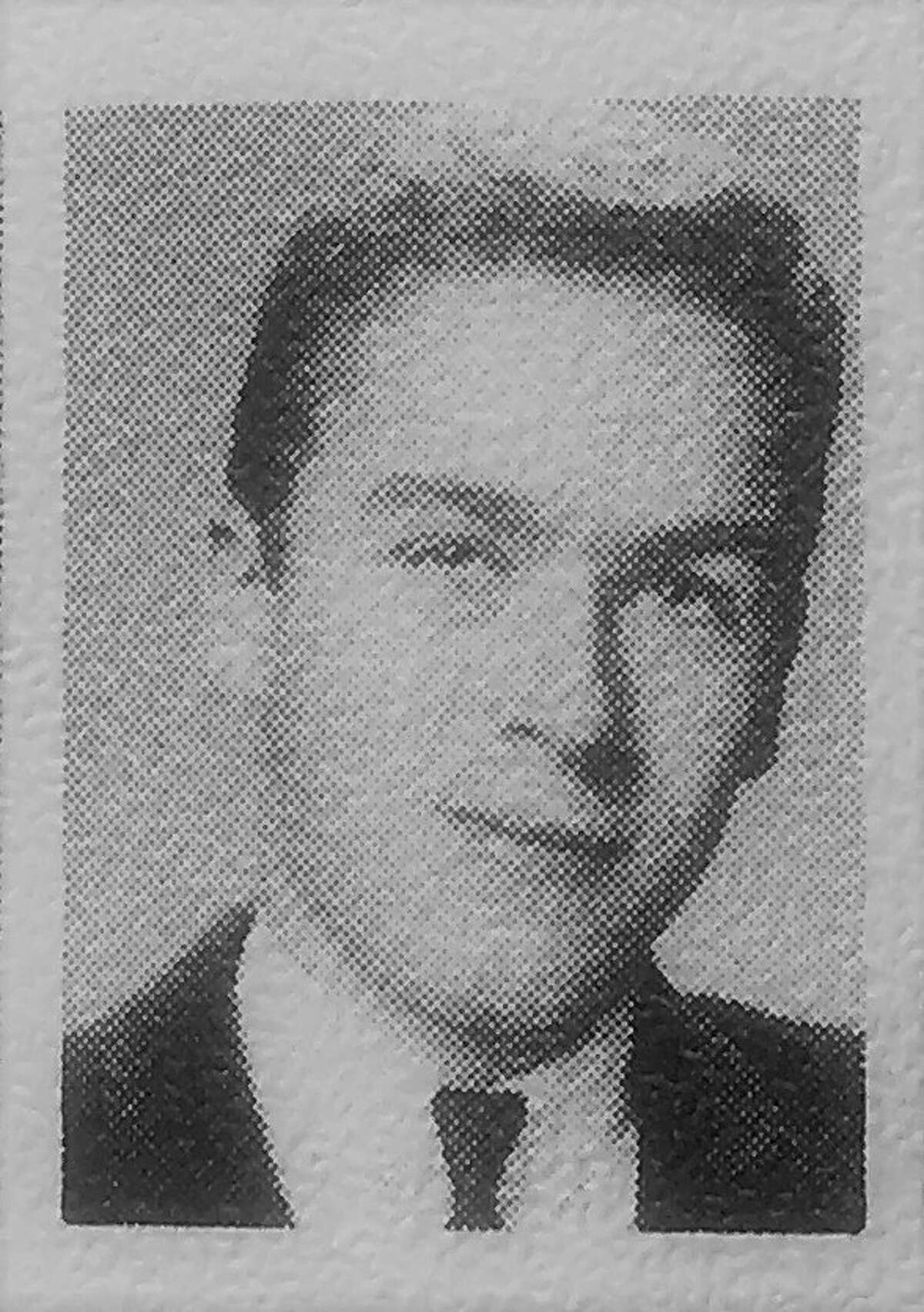 A yearbook photo of Ted Bundy in his junior year 1964 at Wilson High School in Tacoma.
