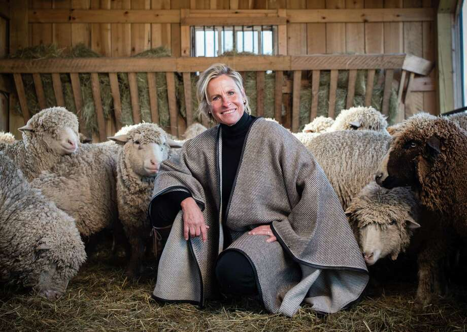 Franny Kansteiner, owner of Gum Tree Farm Designs, raises merino wool sheep on her farm then creates sewn, knitted, woven and baby goods, all handmade, which she sells online and in her shop in Middleburg, Va. Photo: Photo For The Washington Post By André Chung / For The Washington Post