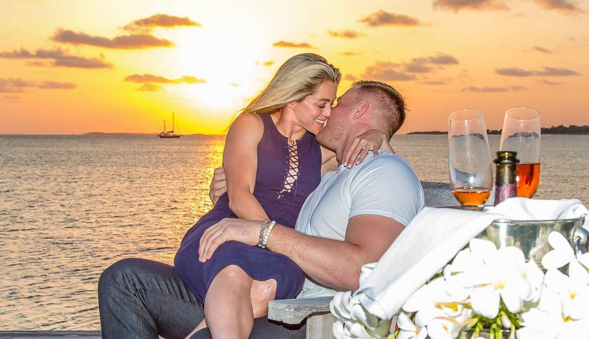 Houston Texans star J.J. Watt and Ohai were engaged in May of this year.