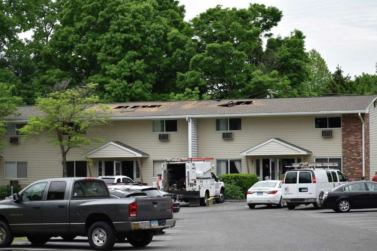 Four units in the Harry Brook Village condominiums were damaged by an early morning fire Tuesday, May 28, 2019.