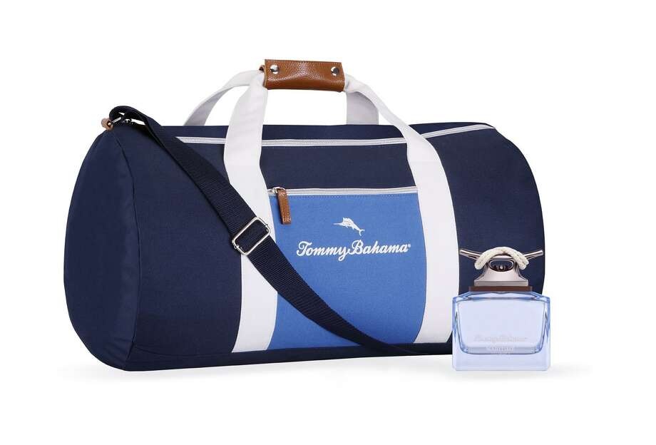 Tommy Bahama Maritime Journey was released in time for Father's Day. At Macy's the duffel bag is a gift with purchase while supplies last. Photo: Contributed Photo