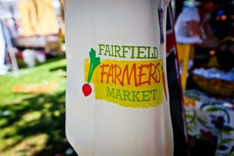 A sign promotes the Fairfield Farmers Market. Photo: Contributed Photo