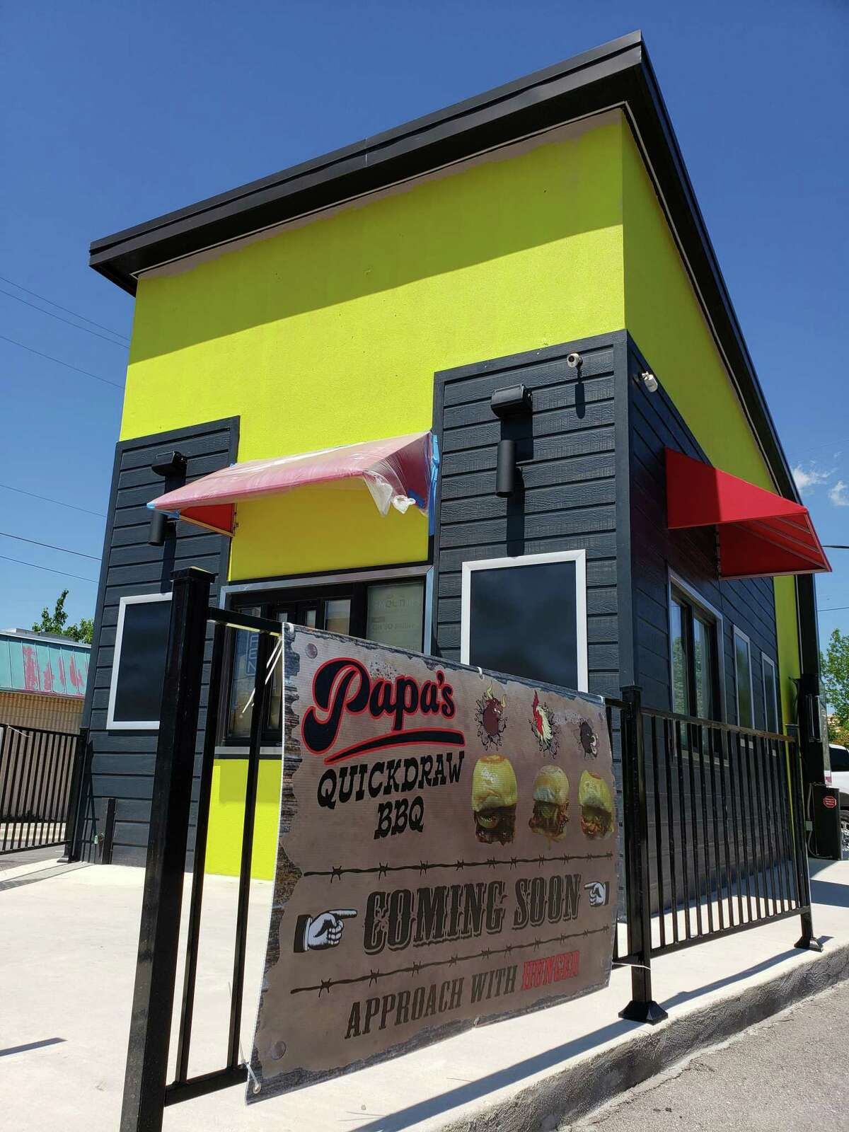 Papa's Quickdraw BBQ is located at 12054 Blanco Road and is expected to open June 18.