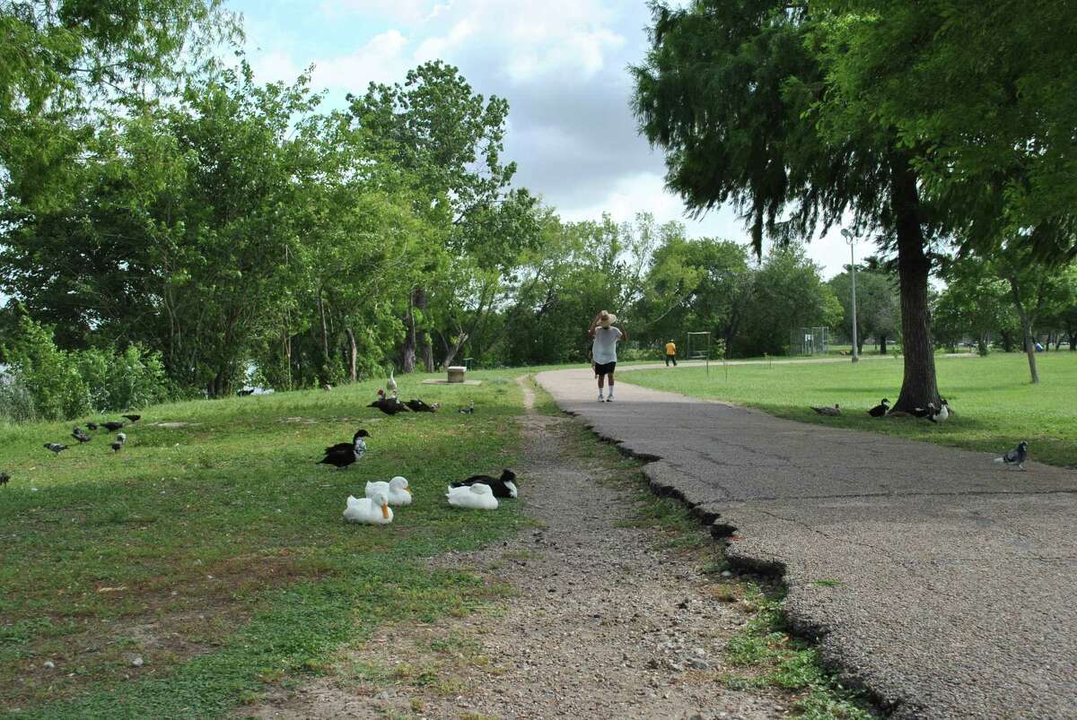 Burke/Crenshaw Park in Pasadena is home of many ducks and a place where residents frequently exercise.