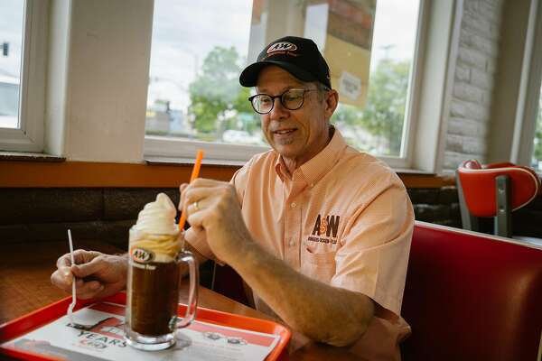 Pete Knight, the owner of A&W, poses for a photo at the restaurant in Lodi, Calif., on Monday, May 27, 2019. The A&W franchise originally founded in Lodi, will be celebrating its 100th anniversary in June.