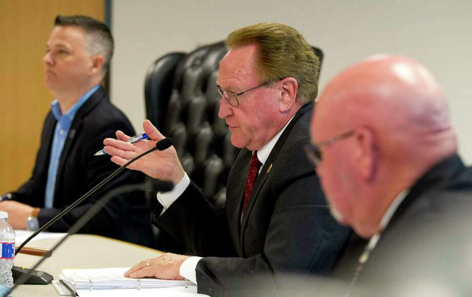 Montgomery County commissioners sharpened their pencils this week reducing the county's upcoming fiscal year budget by just over 2 percent and dropping the tax rate 4.11 percent. Photo: Jason Fochtman, Houston Chronicle / Staff Photographer / © 2019 Houston Chronicle