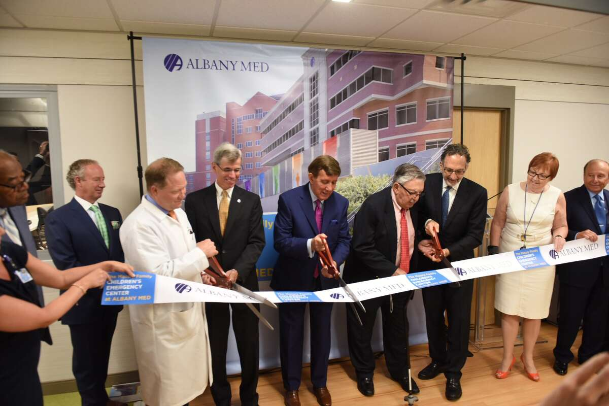 Albany Medical Center CEO and President James Barba is photographed during the Pediatric Emergency Department ribbon cutting.