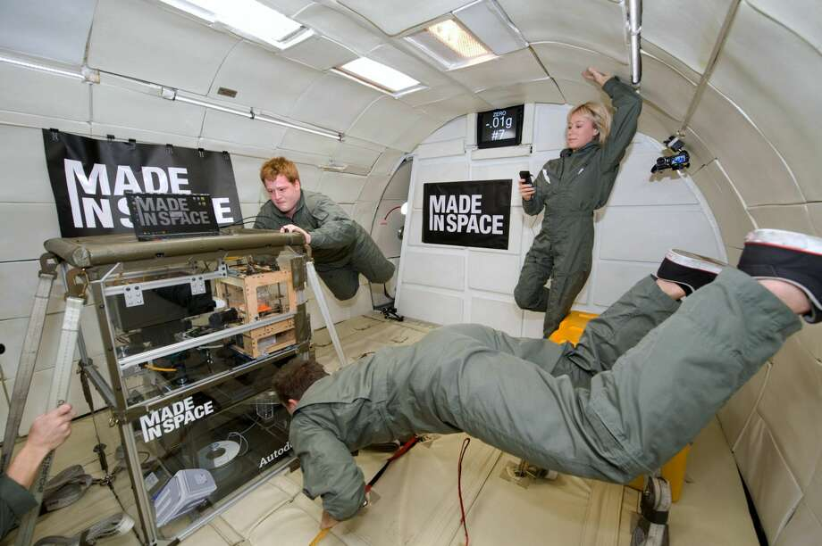 This undated photo provided by Made In Space shows a 3D Printer during testing in the Microgravity Science Glovebox (MSG) Engineering Unit at Marshall Space Flight Center. NASA sent a 3D printer to the International Space Station in hopes that astronauts will be able to one day fix their spacecraft  by cranking out spare parts on the spot. (Associated Press)