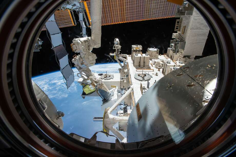 The NanoRacks External Platform (NREP) being installed outside the space station on the Japanese Experiment Module Exposed Facility. The NREP provides power and data to science payloads for a six-month mission outside the space station, then the experiments are returned inside the space station and then back to Earth in a SpaceX Dragon capsule. Photo: Courtesy NanoRacks