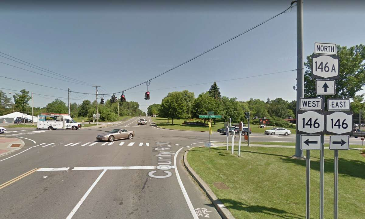 Work began in late May 2019 on a two-lane, $3.9 million roundabout for the Route 146 and Vischer Ferry Road intersection in Clifton Park, state officials said.