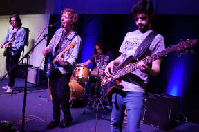 Pioneer Salesmen was one of the bands performing at Score Fest 2019, a concert celebrating the one year anniversary of Score Records in Alton. The concert, featuring eight different bands and musicians took place this past Saturday night at Jacoby Arts Center.