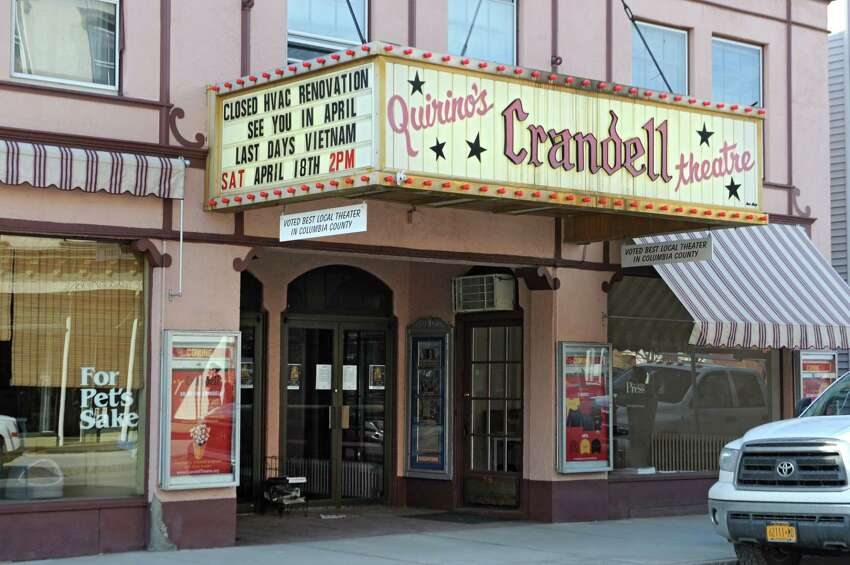 Exterior of the Crandell theatre on Thursday, April 2, 2015 in Chatham, N.Y. (Lori Van Buren / Times Union)