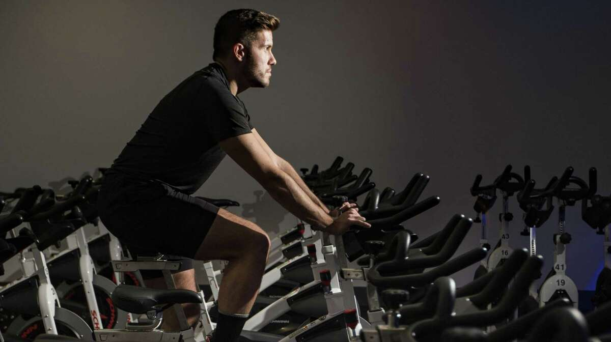 Brandon Buras got fit at RIDE Indoor Cycling in the Heights.