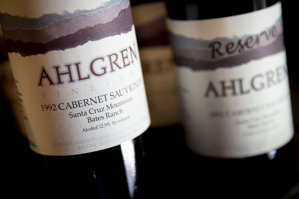 The wines at Ahlgren Vineyard on Thursday, May 23, 2019, in Boulder Creek, Calif. The company recently stopped making wines and is preserving the vineyard.