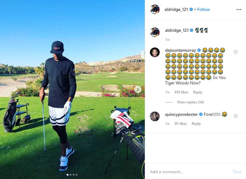 LaMarcus Aldridge has been dabbling in other sports