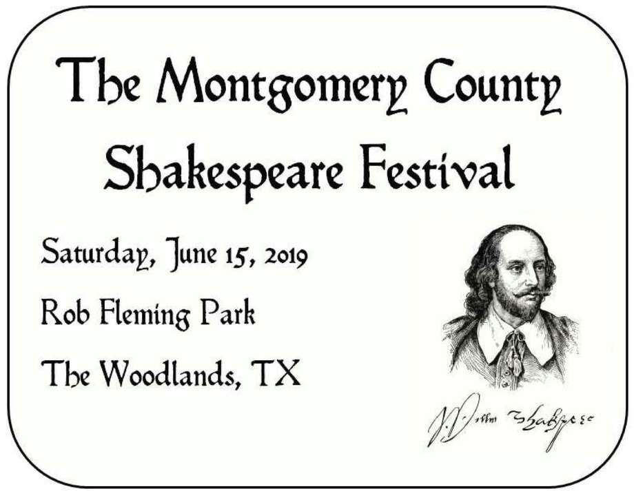 The inaugural Montgomery County Shakespeare Festival is set for Saturday, June 15, at Rob Fleming Park in The Woodlands.