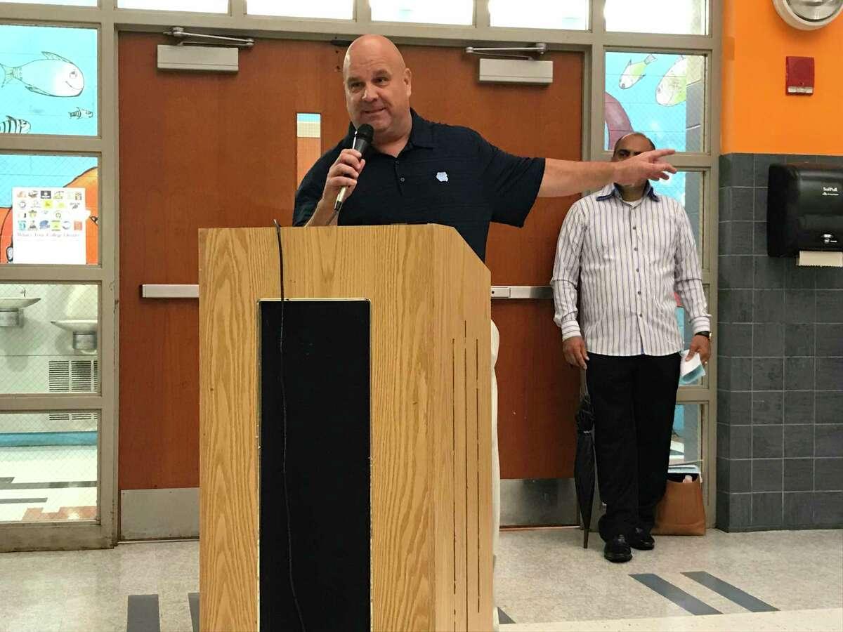 New Haven Federation of Teachers Executive Vice President Tom Burns.