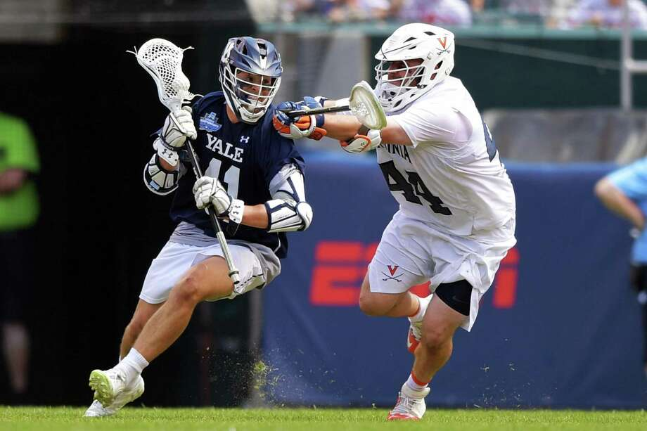 Matt Brandau was one of three Yale men's lacrosse players with two goals in win over No. 1 Penn State. Photo: Drew Hallowell / Getty Images / 2019 Getty Images