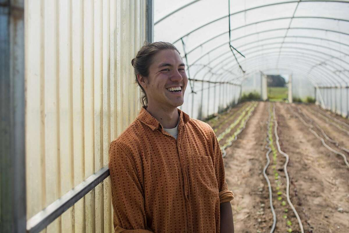 Scott Chang-Fleeman of Shao Shan Farm, a 5.5-acre organic farm with a mission to produce sustainably grown Chinese heritage crops in Bolinas, Calif. on May 2, 2019.