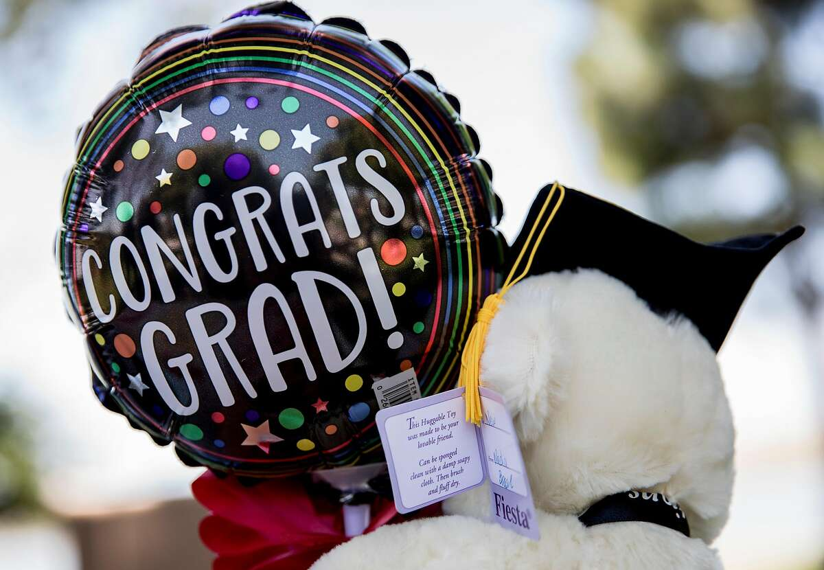 A gift given to Jirayut New Latthivongskorn by a school friend during his graduation party held at Marina Park in San Leandro, Calif. Saturday, May 25, 2019. Latthivongskorn is the first undocumented immigrant to graduate from UCSF's School of Medicine.