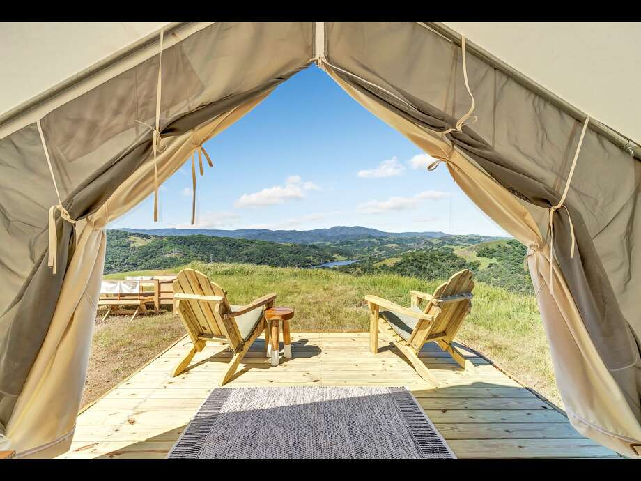 Willow Spring Ranch Hilltop in Morgan Hill is one of the campsites offered by Tentrr in the Bay Area. Tentrr is like Airbnb or Uber for outdoor recreation, providing a platform for landowners to share secluded and scenic sites for camping. Photo: TENTRR