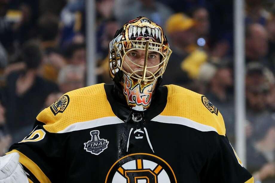Bruins goalie Tuukka Rask has a 1.85 goals against average in the playoffs. Photo: Bruce Bennett / Getty Images