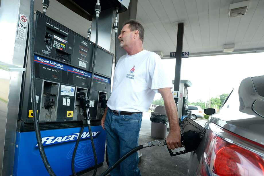 Benny Norris talks about gas prices while filling his tank at Racetrack on College Wednesday.  Photo taken Wednesday, 5/1/19 Photo: Guiseppe Barranco/The Enterprise, Photo Editor / Guiseppe Barranco ©