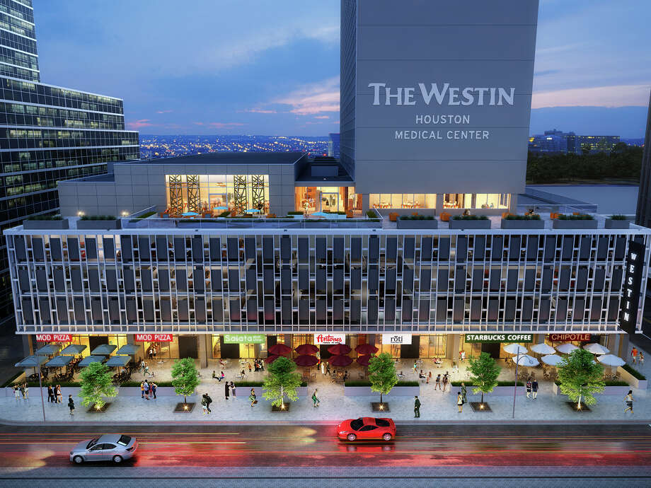 Pearl Hospitality on Wednesday announced seven new tenants for the ground floor of the historic Medical Towers, which is being redeveloped into a 273-room Westin Hotel. The Houston developer has signed lease agreements with MOD Pizza, Roti Modern Mediterranean, Poke in the Bowl, Antone's, JuiceLand, SusieCakes and The Halal Guys. Photo: Courtesy Of Pearl Hospitality