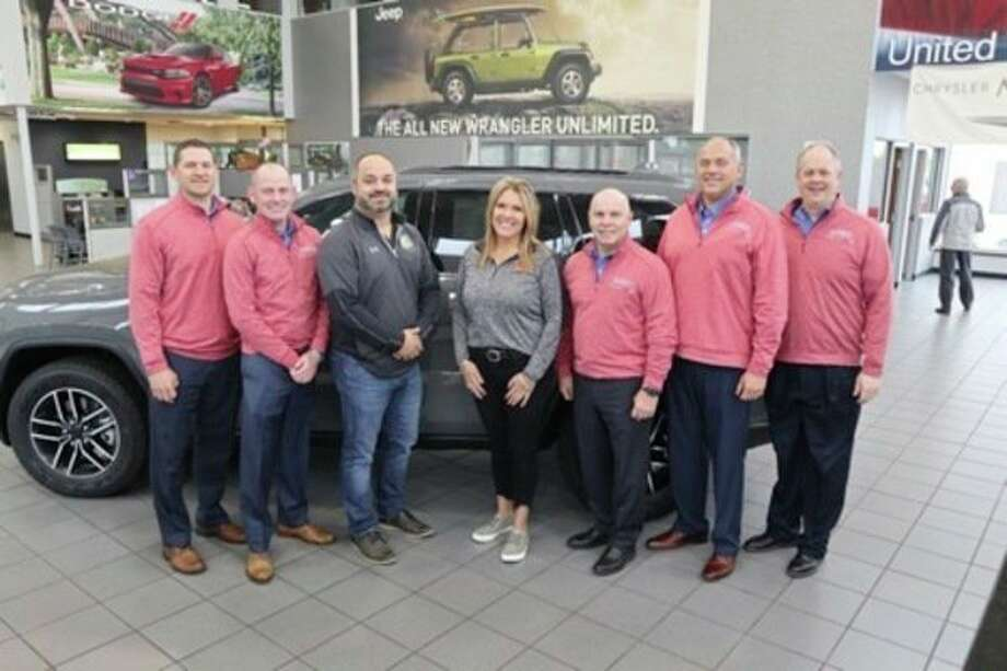 Pat Murtha, Kirk Debuck, MAHL President Ken Hoffman, Project 111 Executive Director Sarah Schieber, Bob Feeny, Mike Beck and Stacey Cowan pose for a photo. (Photo provided)