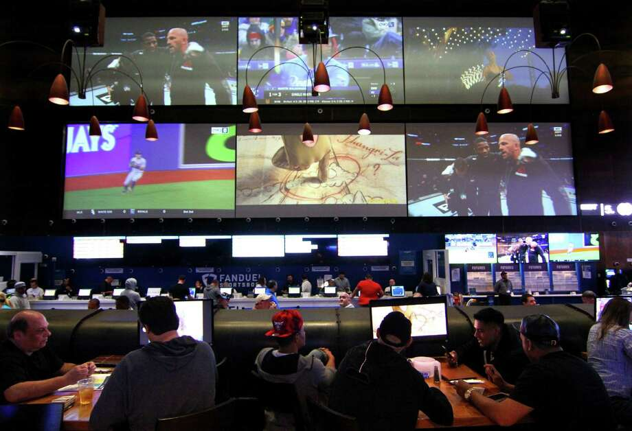 Fan Dual Sportsbook at the Meadowlands in East Rutherford, New Jersey on March 29, 2019. Connecticut is considering legalizing sports betting, leaning toward a New Jersey model where people can bet in person at casinos and racetracks, as well as online. Photo: Christian Abraham / Hearst Connecticut Media / Connecticut Post