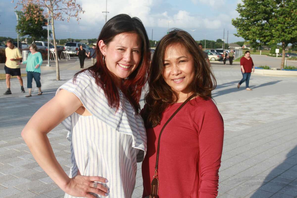 Fans attending the Lionel Richie concert at Smart Financial Centre in Sugar Land.