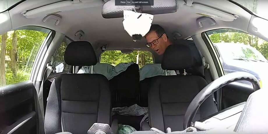 Redding police were able to identify this man caught breaking into a vehicle on its interior camera on May 25, 2019. Photo: Redding Police Department / Facebook