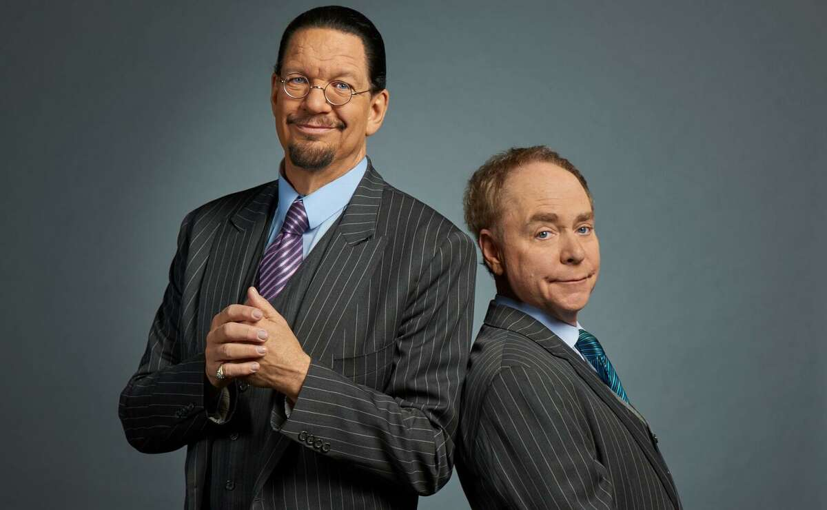 """Penn & Teller: For four decades, magicians Penn & Teller have poked fun at the theatricality of magic while also honoring the mental and physical skills that go into the craft: One of their most famous bits is the classic """"cups and balls"""" trick with clear cups. They have plenty of new tricks up their sleeves for fans, even those who have seen their long-running Vegas act or regularly watch their TV show """"Penn & Teller: Fool Us."""" 8 p.m. Friday. Majestic Theatre, 224 E. Houston St. $49.50-$99.50, ticketmaster.com René A. Guzman"""