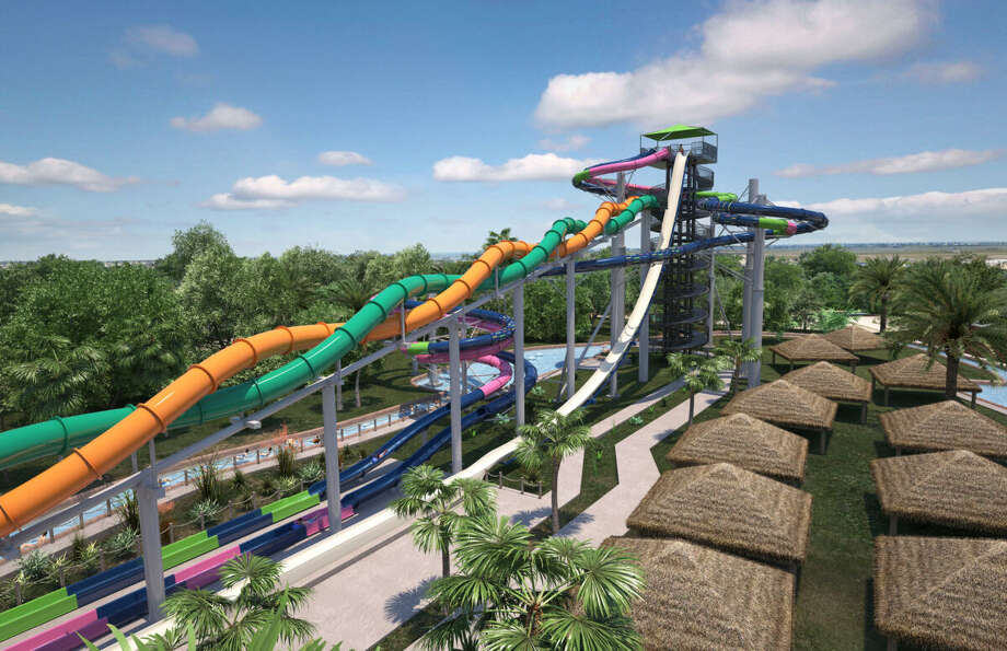 "The 'Infinity Racers"" ride debuts at Schlitterbahn this June 2019. The 8-story, head-first slide is space themed and will be part of the national celebration for the 50th anniversary of the lunar landing. Photo: Galveston CVB"