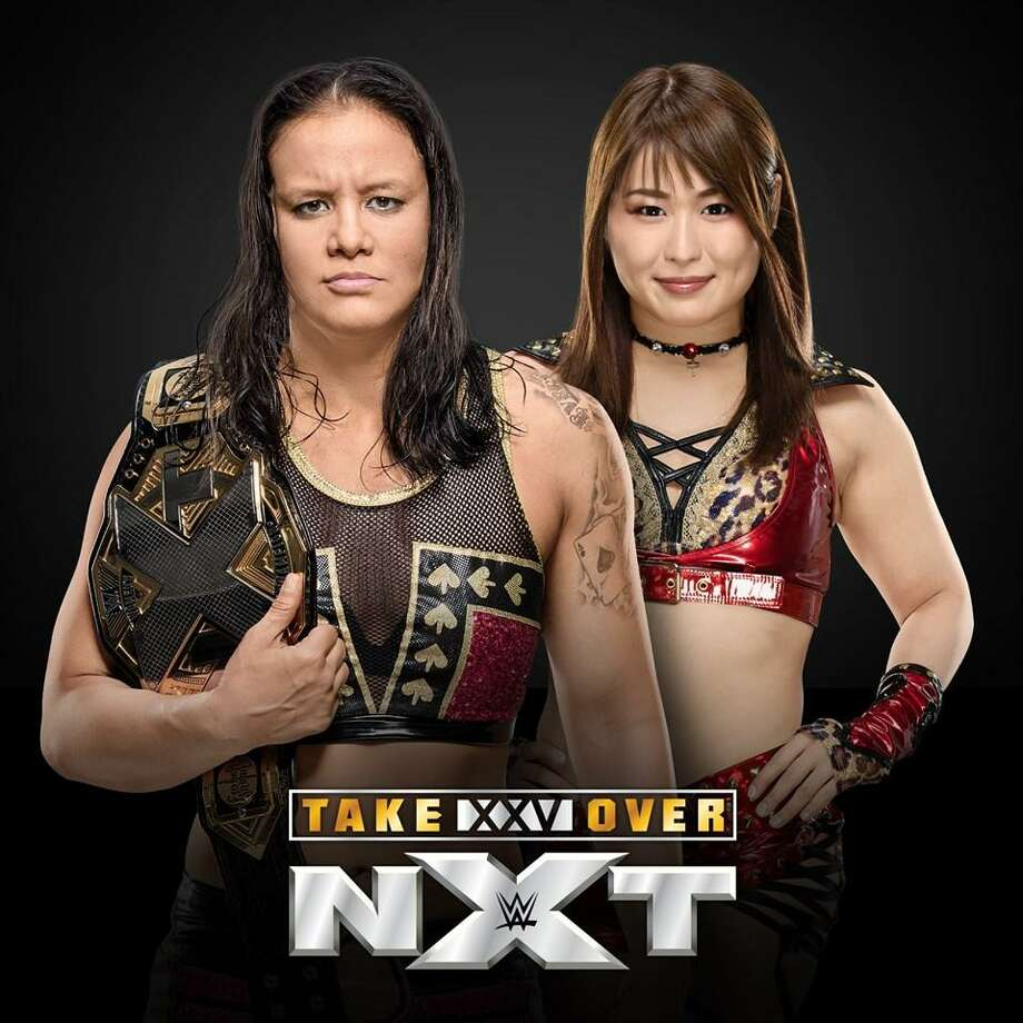 Bridgeport's Webster Bank Arena is hosting WWE NXT TakeOver XXV June 1, with a card featuring the NXT Women's Championship Match of Shayna Baszler vs. IO Shirai. Photo: WWE / Contributed Photo