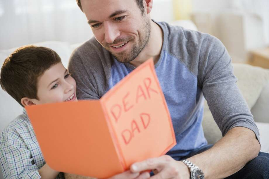 A dad is looking forward to Father's Day. Photo: Jamie Grill/Getty Images/Tetra Images RF