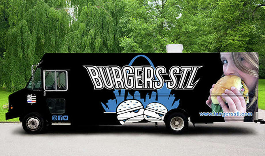 Madison County's newest food truck, BurgersSTL, is more than 30 feet long. The child pictured on the truck sides is the owner's six-year-old daughter. Photo: Courtesy Of Matt Foley