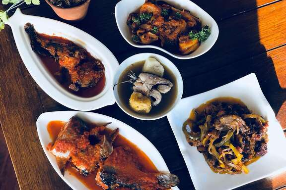 Dishes from Eko Kitchen are pictured in an undated handout photo provided by proprietor Simileoluwa Adebajo. (Photo by Aba Micah, Handout)