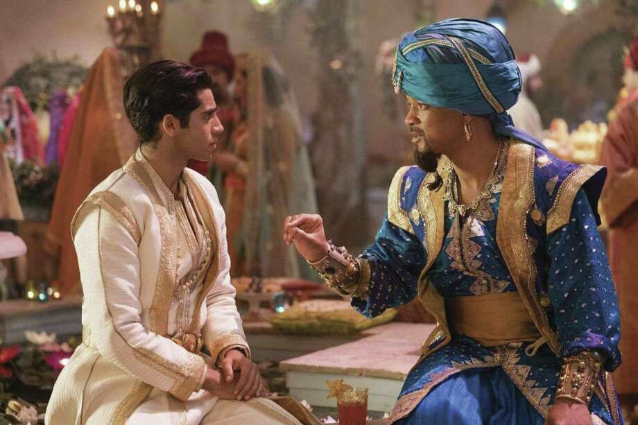 "Danny Minton calls the live-action ""Aladdin"" the most fun he's had at the movies so far in 2019. Here Mena Massoud is Aladdin and Will Smith plays the Genie."
