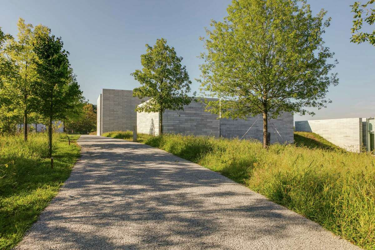 A path leads to the Pavilions at Glenstone.