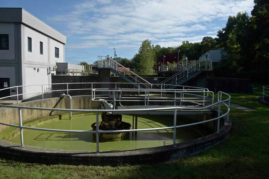 An old holding tank at the Ridgefield South Street Wastewater Treatment Facility. Friday, October 5, 2018, in Ridgefield, Conn. Photo: H John Voorhees III / Hearst Connecticut Media / The News-Times