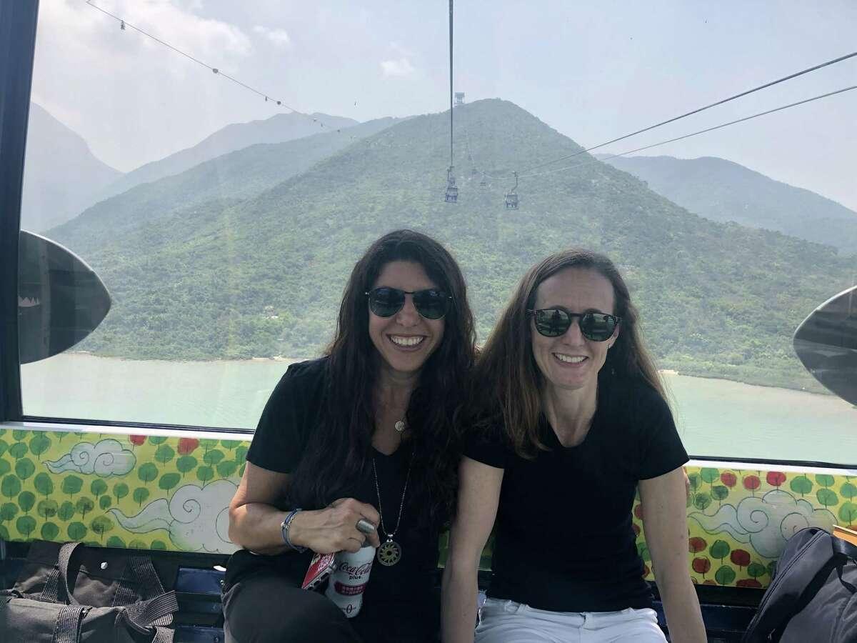Kim Schweber, Part-Day 2's Teacher, and Jane Zeitler, Full-Day Pre-School Teacher, both of Temple Sholom Preschool, attended an international conference in China.