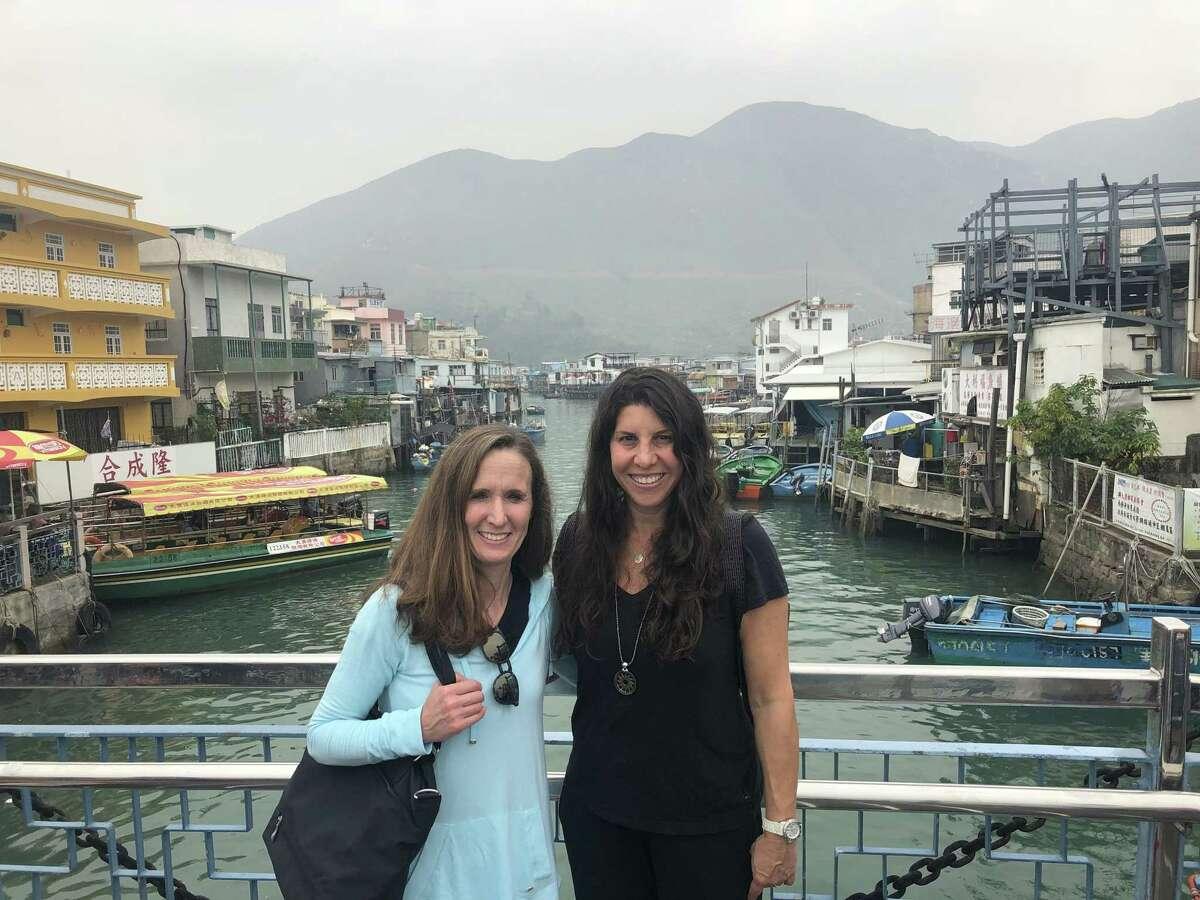 Jane Zeitler, Full-Day Pre-School Teacher and Kim Schweber, Part-Day 2's Teacher, both of Temple Sholom Preschool, attended an international conference in China.