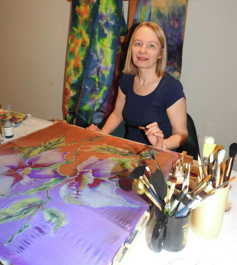 A painting on silk workshop with Inga Strause-Godejord is scheduled forThursday, June 20, 2019. Photo: Evelyn Rubenstein Jewish Community Center