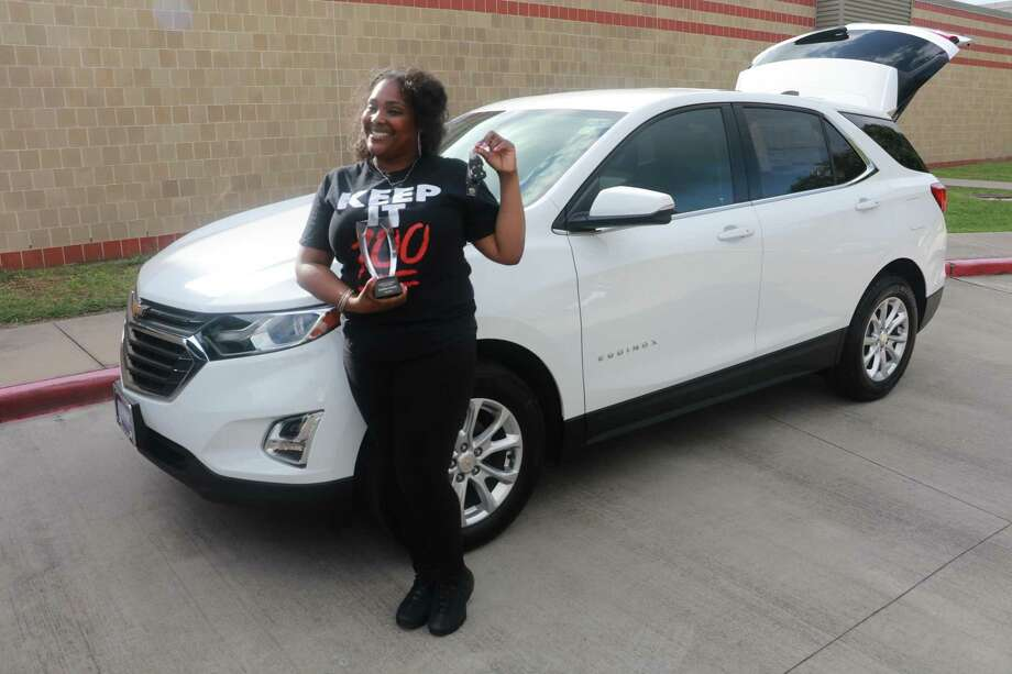 Stafford Intermediate School teacher Zenikka Nichols was recently named the Stafford Municipal School District teacher of the year. In earning the honor, Classic Chevrolet of Sugar Land presented thesixth-grade science/social studies teacher a free three-month vehicle lease. Photo: Stafford MSD Communications