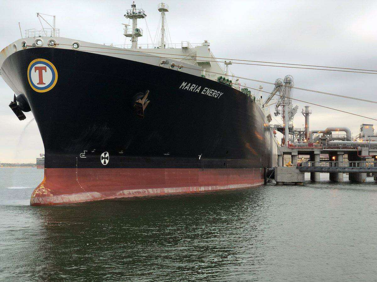 A Liberian-flagged tanker named the Maria Energy left Cheniere Energy's recently completed Port of Corpus Christi facility with the first shipment of liquefied natural gas on the morning of Thursday, December 11, 2018. The shipment marked the first LNG export from Texas.